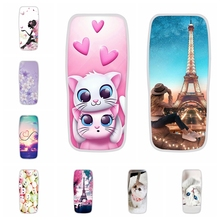 For Nokia 106 2018 Case Ultra-thin Soft TPU Silicone Cover Cute Girl Patterned Shell Capa