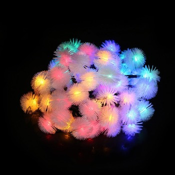 Waterproof 30 LED Solar Outdoor String Fairy Lights Chuzzle Ball Lights for Outside Garden Camping Party Christmas Decoration image