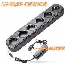 マルチバッテリー六方急速充電器 baofeng ラジオ UV 5R/BF 888S/UV 82/KD C1 充電器携帯