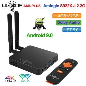 Image 1 - UGOOS AM6 Plus DDR4 4GB 32GB Amlogic S922X J صندوق التلفزيون أندرويد 9.0 مربع التلفزيون الذكية دعم 4K المزدوج واي فاي 1000 متر بلوتوث مشغل الوسائط