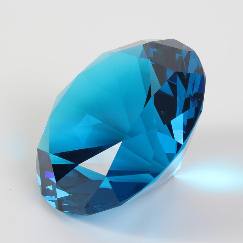 Цветные вечерние украшения из большого стекла с бриллиантами, большие бриллианты, романтическое предложение, украшения для дома, вечерние рождественские подарки - Цвет: Peacock Blue