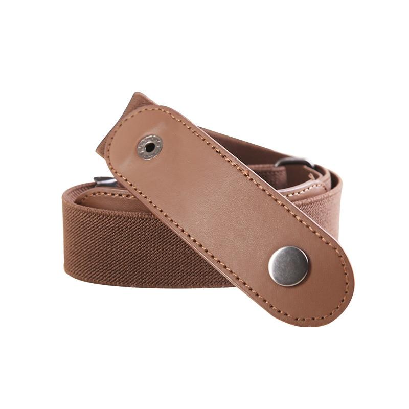 Easy Belt  Without Buckle hidden Invisible secret Belts For Women men Jeans Leather metal buckle Elastic stretch Lazy Belt