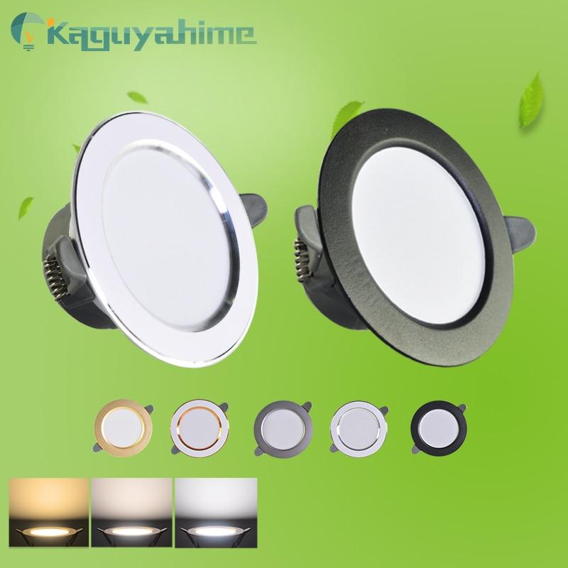 =(K)= LED Downlight Natural White/Warm/Cold 5w 3w LED Spot Light Indoor Recessed Lamp AC 220V LED Spotlight Round Panel Lamp 1