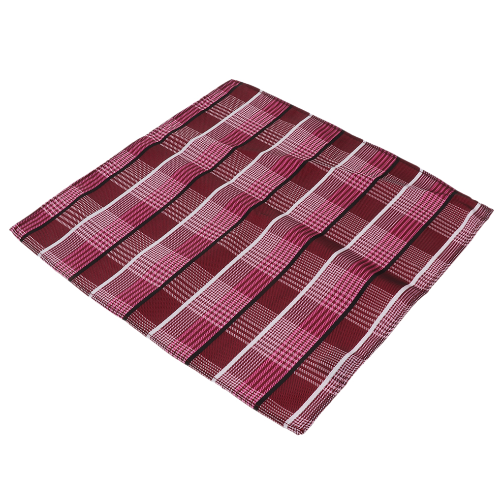 Cotton Plaid Men Handkerchief Square Decorative Suits Grid Hanky 25x25cm Perfect Gift For Gentlemen, Grandfathers, Fathers, Dads