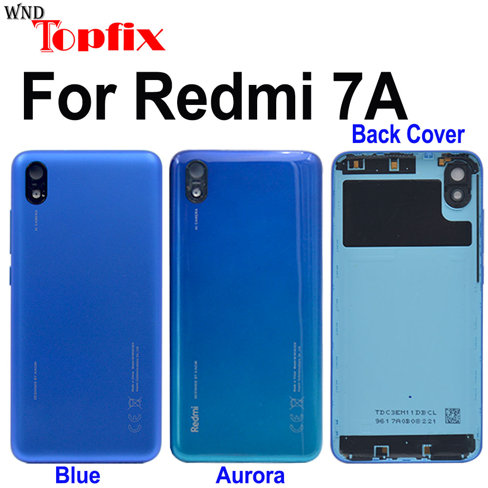 Original For Xiaomi Redmi 7a Battery Cover Back Glass Panel Rear Door Housing Case For Redmi 7a Back Cover Door With Adhesive