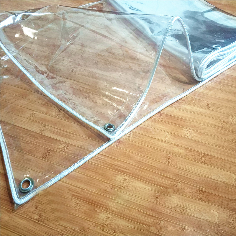 Plastic Tarpaulin Waterproof Heavy Duty Clear Tarp Moisture Pad Transparent Tarp with Grommets and Reinforced Edges Flower Shed Gazebo Plant Insulation Uv Resistant Pergola Courtyard