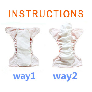 Image 5 - [Mumsbest] 10 Pcs Washable Reuseable Baby Cloth Diapers Nappy Inserts Microfiber 3 Layers