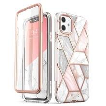 I BLASON para iphone 11 caso 6.1 polegadas (2019 release) cosmo corpo inteiro glitter mármore pára choques capa com built in protetor de tela