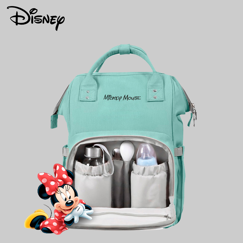 Disney Cute Cartoon Baby Diaper Bag Waterproof For Mommy Multifunctional Mummy Maternity Nappy Bag Backpack Baby Bags Big Pocket