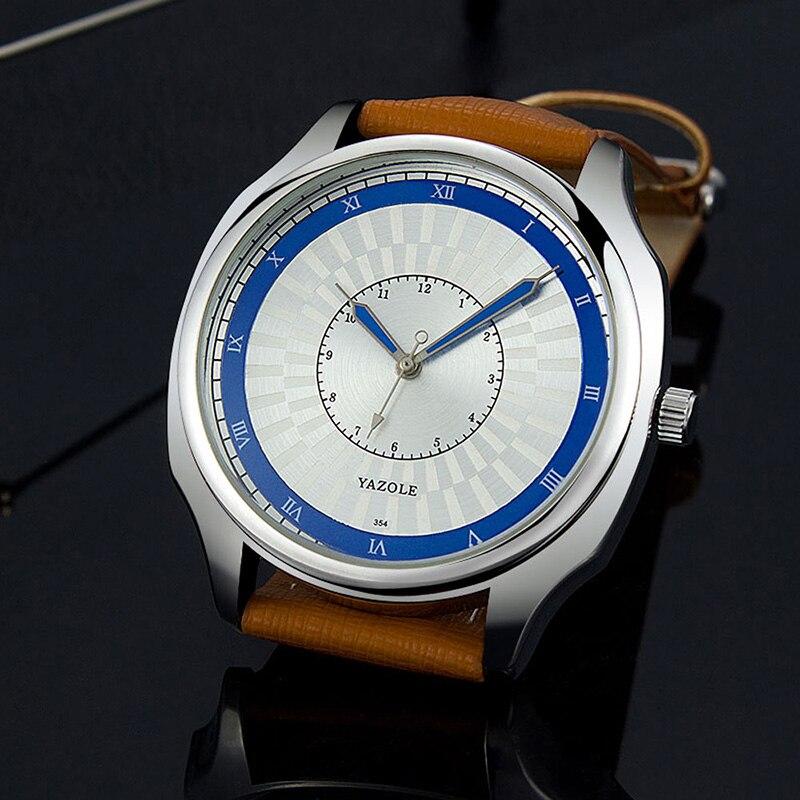 orologio uomo 2019 New Fashion Dress Watch Men YAZOLE Brand Leather Band Simple Unique Design Men's Clock Male Watches relogios|Quartz Watches| |  - title=