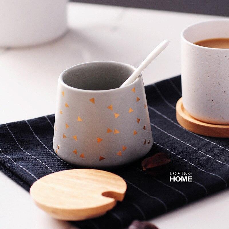 Nordic Style Sugar Bowl Milk Jug Set Wood Lid Good Quality Coffeeware Creamer Pot Candy Tank Miel Suikerpot Coffee Maker Tools