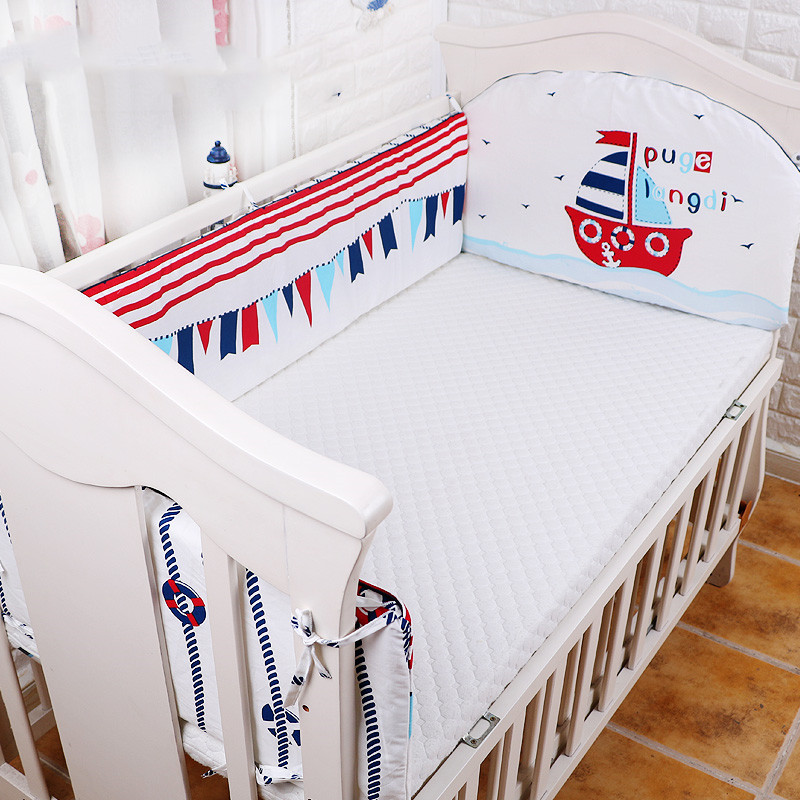 Baby Bed Bumper Set 3 Pcs ,Newborn Baby Crib Bumper,Kids Crib Around Cushion ,Baby Cot Protector Pillows