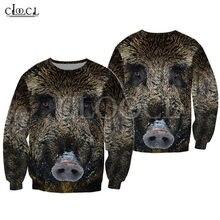 Cloocl кабана Охота 3d печать модные рубашки толстовка на молнии