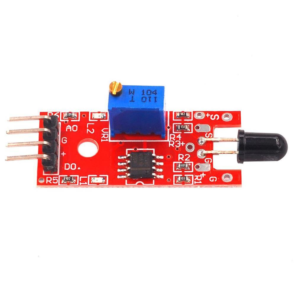 Red Plate Flame Sensor Module Ky-026 Flame Sensor Module High Sensitivity