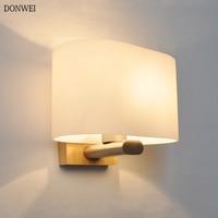 5 w moderno led lâmpadas de parede madeira vidro fosco nórdico luzes arandela quarto sala estar corredor hotel luz parede AC85-265V