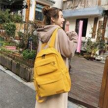 EXCELSIORNew Waterproof Nylon Backpack for Women Multi Pocket Travel Backpacks Female School Bag for Teenage Girls Book Mochilas
