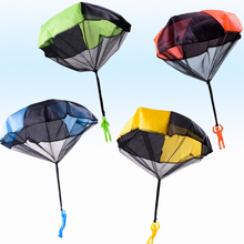 Funny Hand Throwing Mini Soldier Parachute Toy Kids Outdoor Game Educational Toys Fly Sport
