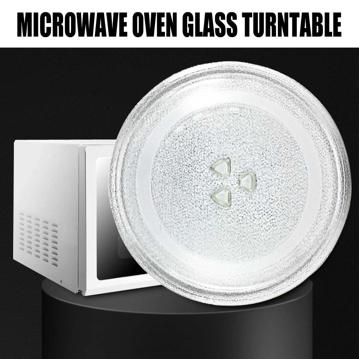 Univeral 245mm Microwave Oven Glass Disc Tray Turntable Y Type Bottom Flat Pallet Plates For Midea And Other Thicken