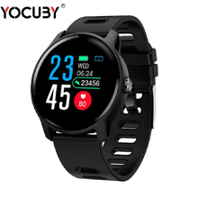 YOCUBY Sport Smart watch Men Pedometer IP68 Waterproof Fitness Tracker Heart Rate ECG Monitor Women Clock Business bracelet S08