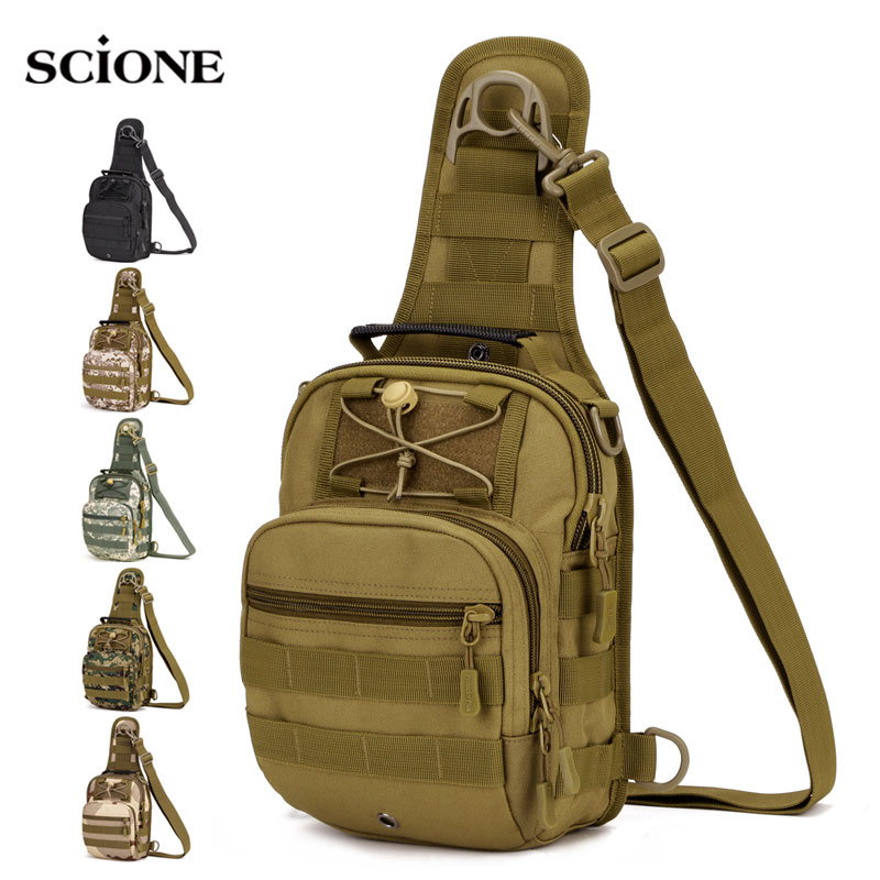 Tactical Bag Molle Fishing Hiking Backpacks Hunting Bags Sports Chest Sling Shoulder Backpack Military Army Mochila Tas XA598WA