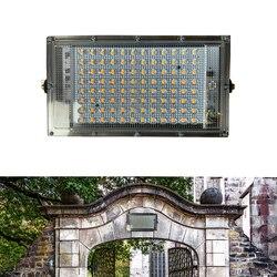 100W zewnętrzny projektor oświetleniowy AC 220V 230V Ultra cienki reflektor IP65 wodoodporny LED ogród garaż ściana lampa uliczna oświetlenie krajobrazu