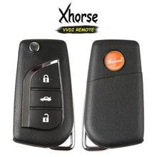 KEYECU (İngilizce versiyonu) xhorse Toyota stil X008 serisi 3 düğme evrensel tel uzaktan anahtar VVDI anahtar aracı