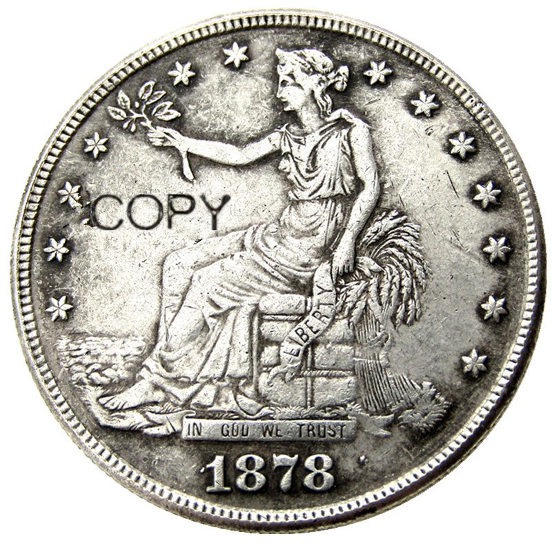 1878 Pscc Copy Coins Silver Plated