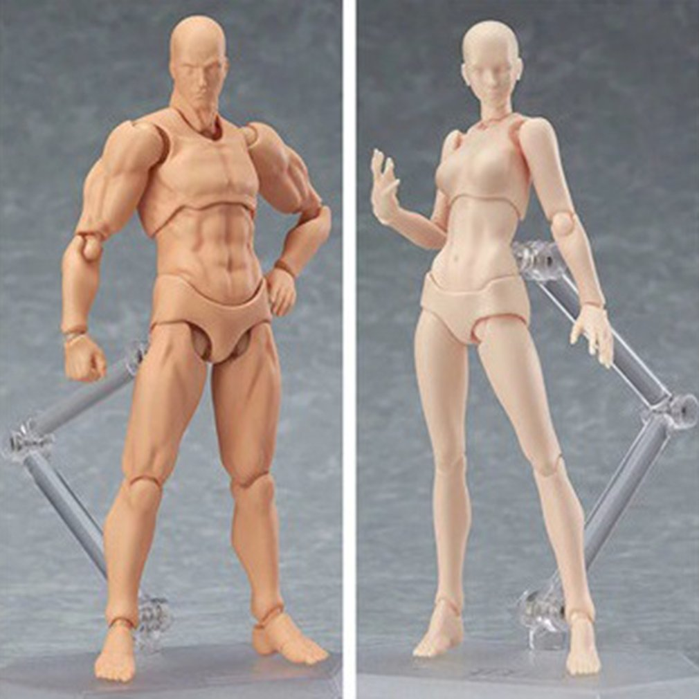 13cm Action Figure Toys Artist Movable Male Female Joint Figure PVC Body Figures Model Mannequin Art Sketch Draw Figurine