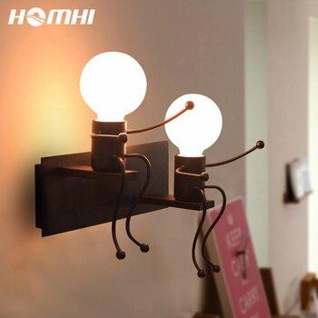 Украшение для комнаты, светодиодный настенный светильник, робот, человек, темный проект для загородного дома, Ниша, настенное творчество, де...