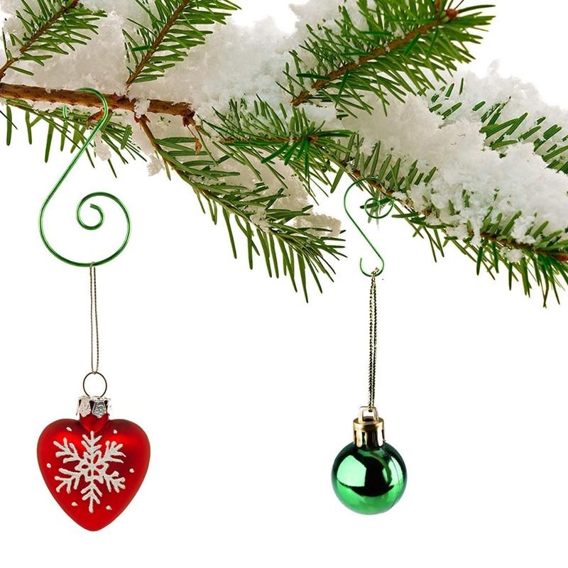 AFBC 120 Pieces Christmas Ornament Hooks S Shape Hanger Hooks Swirl Scroll Ornament Hook For Christmas Tree Decorations Hanger (