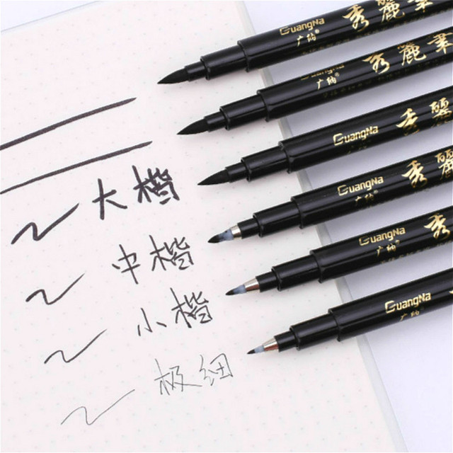 Quality New Calligraphy Pen Set Fine Liner Tip Medium Brush Pens for Signature Drawing Hand Lettering School Album Art Supplies