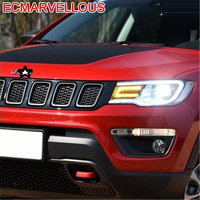 Running Parts Assessoires Neblineros Para Auto Led Automobiles Cob Drl Headlights Car Lights Assembly 17 FOR JEEP Compass