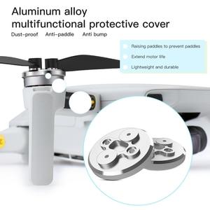Image 2 - 4PCS Motor Cover Cap for DJI Mavic Mini Drone Dust proof Engine Protector Guard Aluminium Light Slip over Protective Accessory