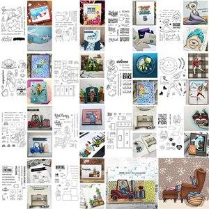 4x6inch Clear Stamps Energetic Girl Ski Skating Shopping Doggie Cat Bear Elk Marine Animals Lounge Lamp Furnitures Phrase 2020(China)