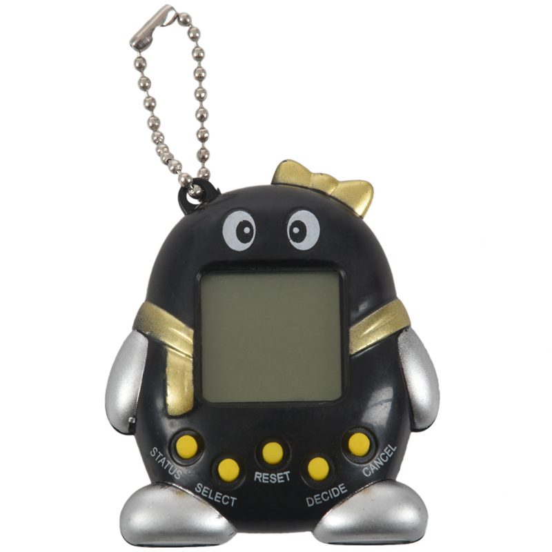 Plastic Nostalgic Virtual Pet 168 In1 Cyber Pets Ta-magotchi Funny Toy Black