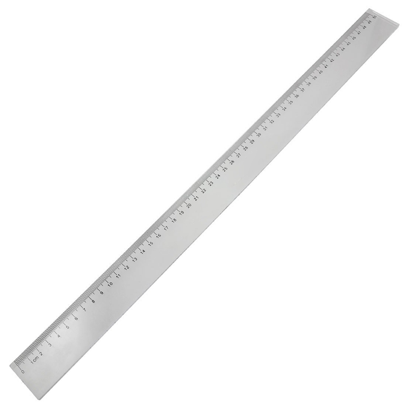 50cm Clear Plastic Measuring Long Straight Centimeter Ruler