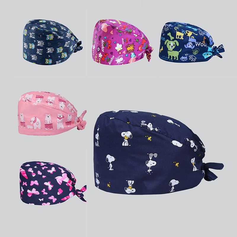 Clearance Veterinarian Surgical Caps Medical Scrub Caps For Women Men Hospital OR Doctor Nurse Work Hat Dentist Skull Hats