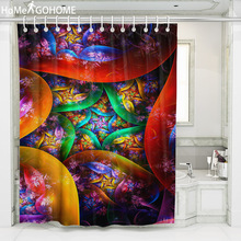 Boho Curtains Mandala Shower Dazzling Light Artistic Bohemian Bathroom Curtain Washable Bath