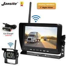 Jansite 7 дюймов беспроводная камера заднего вида Автомобильная