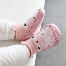 Infant First Walkers Cartoon Baby Shoes Cotton Newborn Shoes Soft Sole Autumn Winter Toddler Shoes for Baby Girl Boy cheap NoEnName_Null Cotton Fabric Shallow Unisex Slip-On Fits true to size take your normal size Cartoon Animation