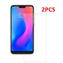 2 PCS For Xiaomi Mi A2 Glass Mi A2 Lite Screen Protector Tempered Glass on the For Xiaomi Mi A2 Lite Glass Protective Phone Film(China)