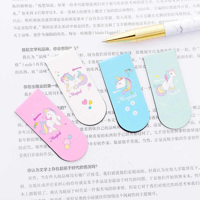 Einhorn Magnetische Lesezeichen Mädchen Kawaii Lesezeichen Für Buch Papier Dateien Veranstalter Büro Schule Liefert Kreative Staitonery
