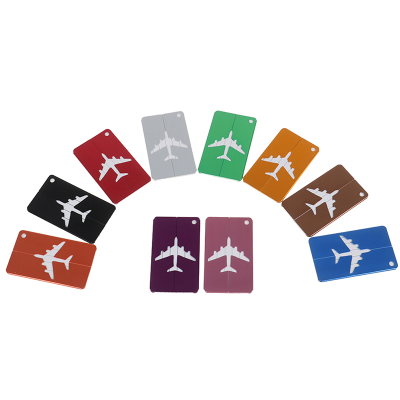 7PCS Baggage Name Tags Aluminium Alloy Luggage Tags Suitcase Address Label Holder Travel Accessories