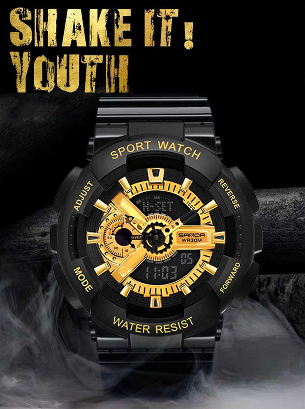 H98bc28d9641d415081abd9d73d228e1eA 2020 SANDA Military Men's Watch Brand Luxury Waterproof Sport Wristwatch Fashion Quartz Clock Couple Watch relogio masculino