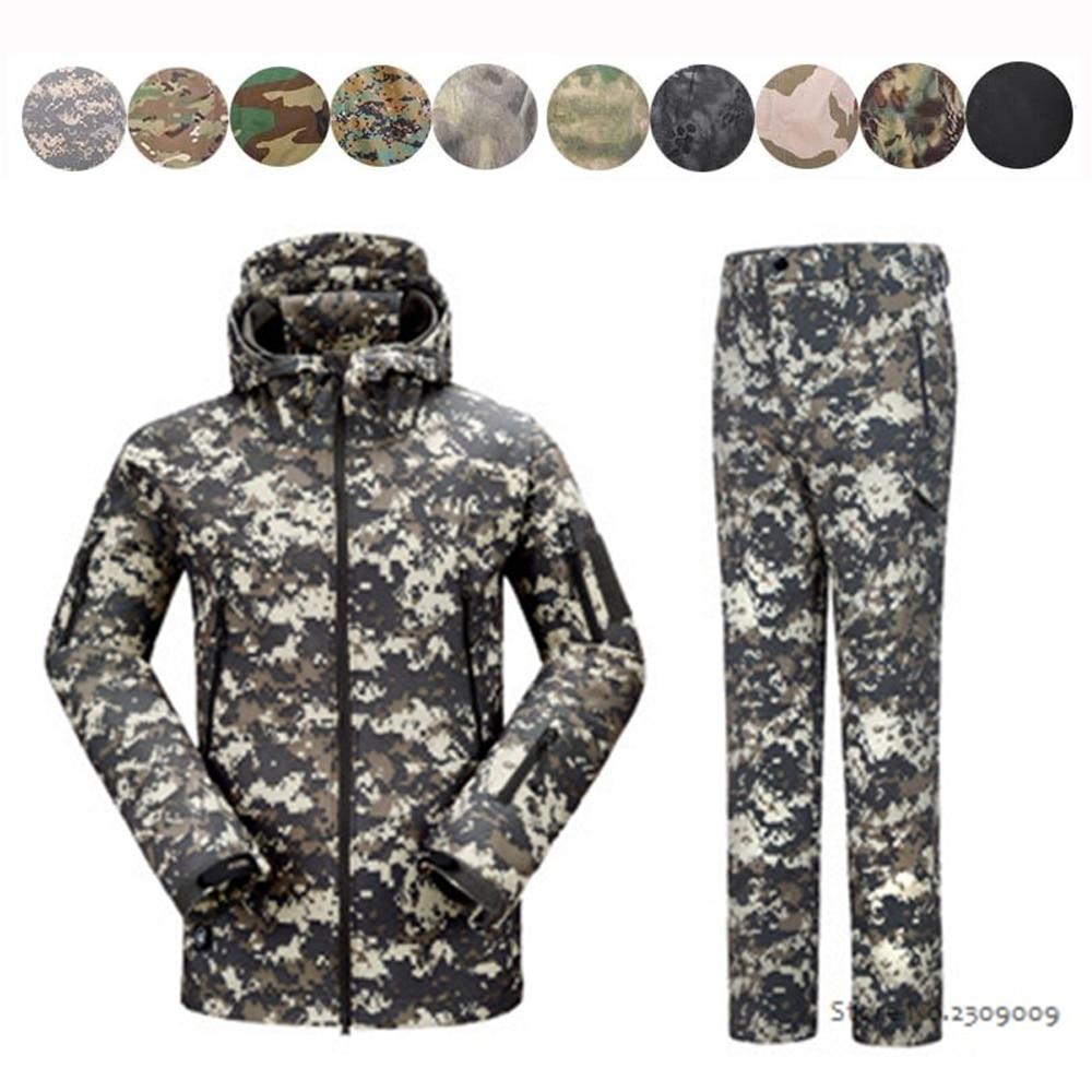 Waterproof Shark Skin Soft Shell Jacket Military Tactical Jacket Pants Waterproof Windproof Army Jacket Pants