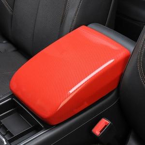 Image 5 - Car Styling Center Console Armrest Box Cover Decoration Sticker Trim For Adui Q5 FY 2018 2019 LHD Carbon Fiber Color Decals
