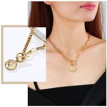 Модные ожерелья с подвеской в виде монеты Элизабет для женщин