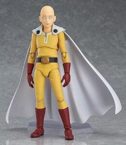 Image 2 - Saitama figura de acción de One Punch Man Saitama Figma 310, juguete de modelos coleccionables, regalo de cumpleaños, 14cm, PVC