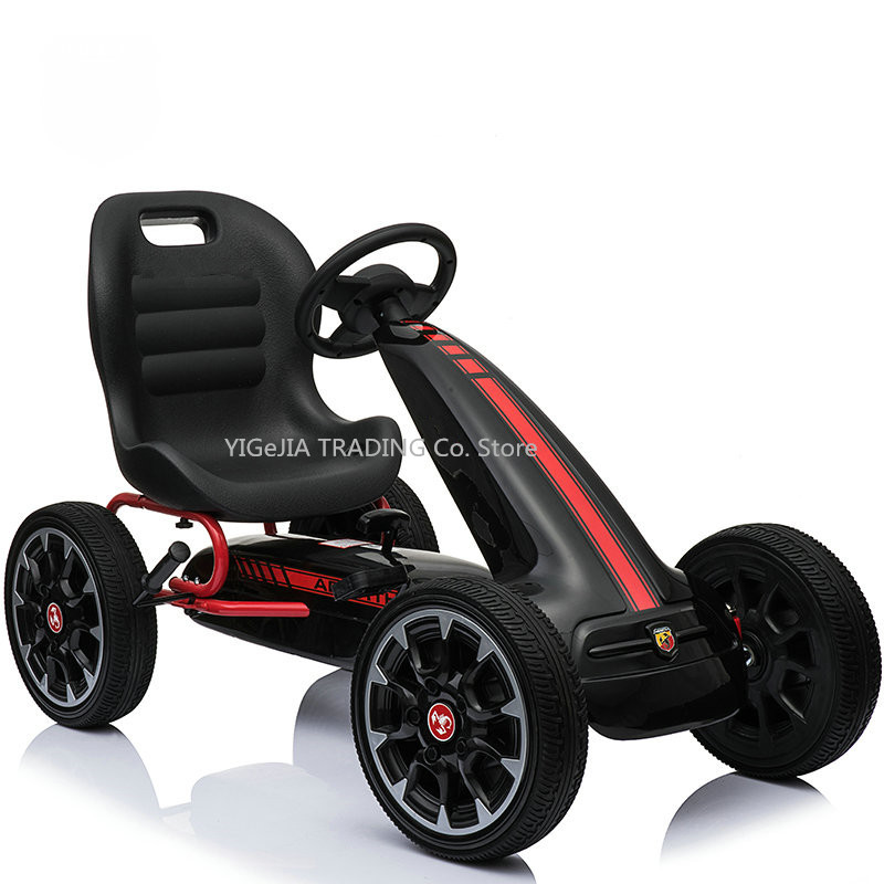 Children's Four Wheel Pedal Go Cart Sports Toy Car For Exercise Training, New Arrival Pedal Go Kart, 12 INCH Eva Wheel Go Kart