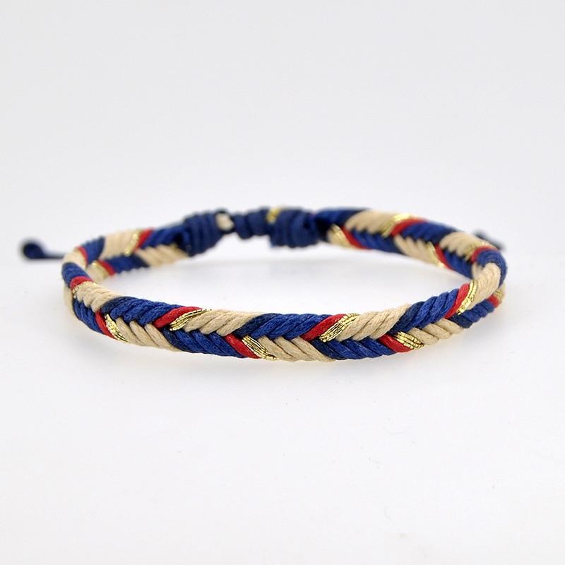Тибетские браслеты разных цветов, очаровательные мужские и женские браслеты ручной работы с узелками, зеленая веревка, амулет в подарок